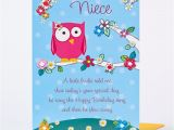 Birthday Cards for Nieces Birthday Card Special Niece Owl Design Only 89p