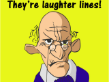 Birthday Cards for Old Men Old Man Laughter Lines Wrinkles Funny Birthday Card