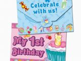 Birthday Cards for One Year Old Baby Boy 1st Birthday Invitation Card for Little Girl or Little Boy
