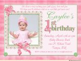Birthday Cards for One Year Old Baby Girl 16th Birthday Invitations Templates Ideas 1st Birthday