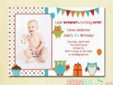 Birthday Cards for One Year Old Baby Girl Owl Birthday Boy Invitation First Birthday 1 2 3