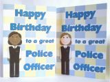 Birthday Cards for Police Officers Female Police Officer Policewoman Birthday Greeting Card