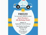 Birthday Cards for Police Officers Police Birthday Party Invitation Zazzle Com