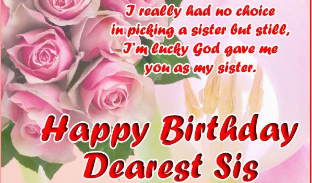 Birthday Cards For Sister Free Download 10 Happy