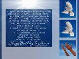 Birthday Cards for someone In Heaven A Special Heavenly Birthday Wish Birthday In Heaven