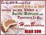 Birthday Cards for son From Mom and Dad Happy Returns Of the Day to A Loveable son Wishbirthday Com