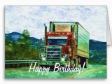 Birthday Cards for Truck Drivers Big Rig Road Liner Truck Lover Birthday Card Rigs