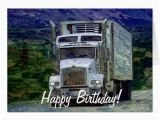 Birthday Cards for Truck Drivers Big Rig Road Liner Truck Lover Birthday Card Zazzle Com