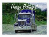 Birthday Cards for Truck Drivers Truck Driver Funny Trucker Birthday Cards Zazzle