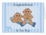 Birthday Cards for Twin Boys Congratulations Twin Baby Boys Custom Card Zazzle