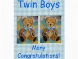 Birthday Cards for Twin Boys Twin Boys Greeting Card Zazzle