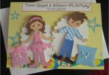 Birthday Cards for Twins Boy and Girl Twin A5 Girl Boy Birthday Card Personalise Handmade Any