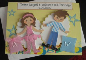 Birthday Cards For Twins Boy And Girl Twin A5 Card Personalise Handmade Any