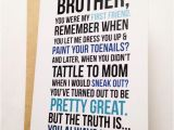 Birthday Cards for Your Brother Brother Card Brother Birthday Card Funny Card Card for
