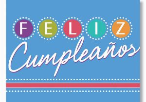 Birthday Cards In Spanish Feliz Cumpleanos Lights Card