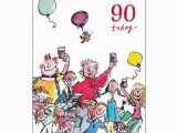 Birthday Cards Next Day Delivery Uk 90th Unisex Birthday Card Quentin Blake Same Day