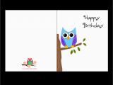 Birthday Cards Print Free Free Printable Cute Owl Birthday Cards
