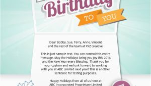 Birthday Cards Sent by Email Corporate Birthday Ecards Employees Clients Happy