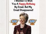 Birthday Cards Sent by Email Hillary Clinton Funny Birthday Card Email Gift Idea
