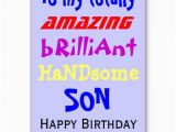 Birthday Cards to My son Messages Happy Birthday