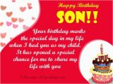 Birthday Cards to son From Mother Birthday Wishes for son 365greetings Com