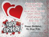 Birthday Cards to Wife From Husband Happy Birthday Wishes for Wife with Love Birthday Wishes