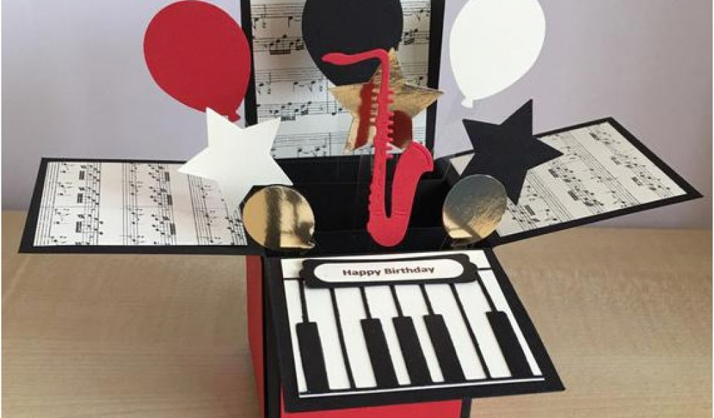 Birthday Cards With A Piano Theme Handmade Card In Box Special
