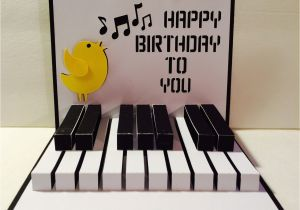 Birthday Cards With A Piano Theme Happy 3d Popup Svg Cutting File