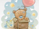 Birthday Cards with Bears Birthday Card with Cute Bear Stock Vector Illustration