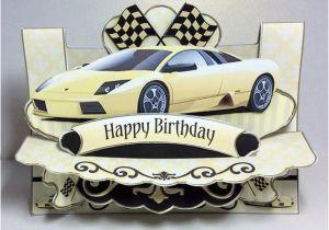 Birthday Cards with Cars On them 3d Birthday Card Yellow Car Card 3d Car Birthday Card