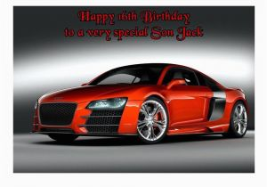 Birthday Cards with Cars On them Audi R8 Car A5 Birthday Card Personalised Any Relation Age