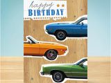 Birthday Cards with Cars On them Birthday Card Classic Cars Garlanna Greeting Cards