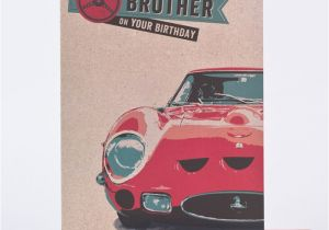 Birthday Cards With Cars On Them Card For A Special Brother Sports Car Design