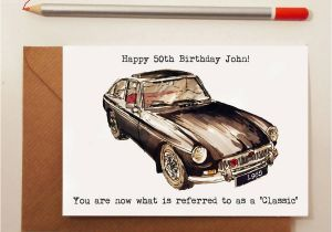 Birthday Cards with Cars On them Classic Car Birthday Card by Homemade House