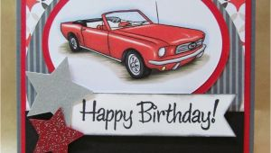 Birthday Cards with Cars On them Savvy Handmade Cards Classic Car Birthday Card
