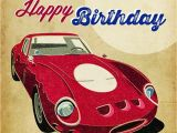 Birthday Cards with Cars On them with Age Comes Coolness Red Ferrari Birthday Card