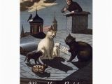 Birthday Cards with Cats Singing 5 Cats Singing On A Roof at Night Birthday Card Zazzle