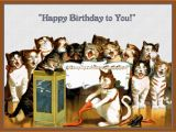 Birthday Cards with Cats Singing Group Of Cats Singing Happy Birthday Refrigerator Magnet