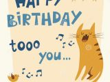 Birthday Cards with Cats Singing Happy Birthday Vector Card Stock Vector Illustration Of