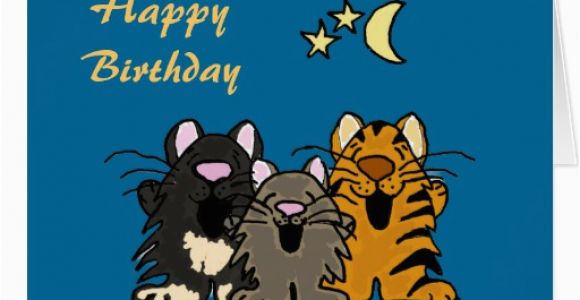 Birthday Cards With Cats Singing Quotes
