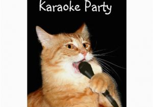 Birthday Cards With Cats Singing Cat Greeting Card Zazzle