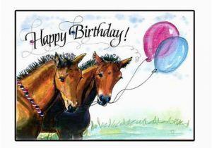 Birthday Cards with Horses On them Happy Birthday Horse Card