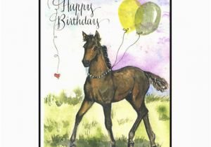 Birthday Cards with Horses On them Horse Birthday Card In Watercolor Horse Lover Birthday Card