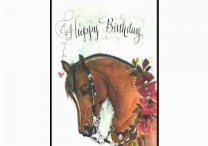 Birthday Cards With Horses On Them Western Show Horse Card In Watercolor