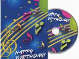 Birthday Cards with Name and Music Music Notes Birthday Greeting Card with Matching Cd China