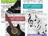 Birthday Cards with Name and Music Music theme Birthday Cards Colorful Images