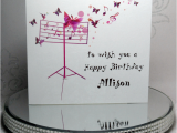 Birthday Cards with Name and Music Musical butterflies Birthday Card