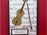 Birthday Cards with Name and Music Raggedy Creek Creations Violin Birthday Card