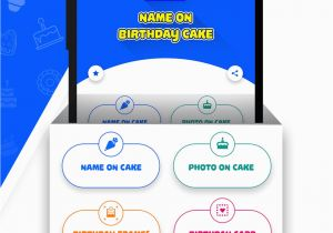 Birthday Cards With Name And Photo Upload Free On Cake