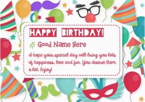 Birthday Cards With Name And Photo Upload Free Write Your On Cake Image For